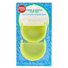 Grreat Choice® Bird Food & Water Cup Set