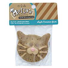Molly's Barkery Cat Face Cookie Dog Treat - Apple Cinnamon