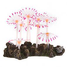 Top Fin® Glow-in-the-Dark Pink and Orange Flower Aquarium Ornament