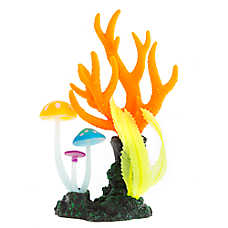 Top Fin® Glow-in-the-Dark Coral with Mushroom Aquarium Ornament