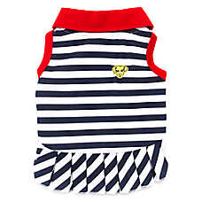 Ed Ellen DeGeneres Striped Dog Dress