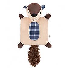 ED Ellen DeGeneres Flattie Mat Squirrel Dog Toy - Crinkle, Squeaker