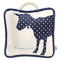 ED Ellen DeGeneres Goat Happiness Pillow Dog Toy - Plush, Rope, Squeaker