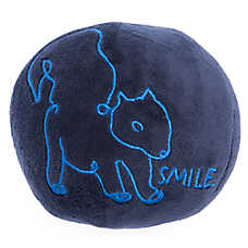 ED Ellen DeGeneres Squirrel Smile Ball Dog Toy - Plush, Squeaker