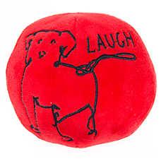 ED Ellen DeGeneres Laugh Dog Ball Dog Toy - Plush, Squeaker