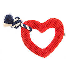 ED Ellen DeGeneres Fashion Heart Dog Toy - Plush, Rope