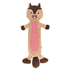 ED Ellen DeGeneres Flattie Squirrel Dog Toy - Crinkle