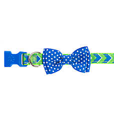 Top Paw® Chevron Ribbon Bow Dog Collar