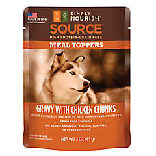 Simply Nourish™ Source Dog Food Meal Topper - Natural, Grain Free, Gravy with Chicken