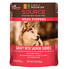 Simply Nourish™ Source Dog Food Meal Topper - Natural, Grain Free, Gravy with Salmon