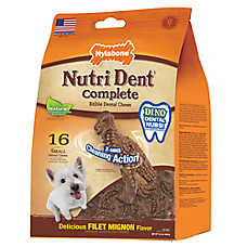 Nylabone NutriDent Complete Small Dental Dog Chew - Natural, Filet Mignon