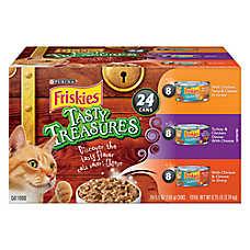 Purina® Friskies® Cat Food - Tasty Treasures, Variety Pack, 24ct