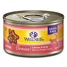 Wellness® Gravies Adult Cat Food - Grain Free, Salmon Entree