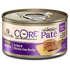 Wellness® CORE® Classic Pate Kitten Food - Natural, Grain Free, Turkey & Chicken Liver