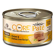 Wellness® CORE® Classic Pate Indoor Cat Food - Natural, Grain Free, Chicken & Chicken Liver