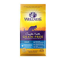 Wellness® Complete Health Adult Cat Food - Natural, Grain Free, Chicken & Chicken Meal