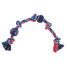Top Paw® Americana 5-Knot Rope with Ball Dog Toy