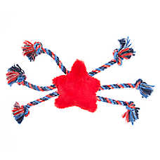Top Paw® Americana Star Dog Toy - Rope, Plush, Squeaker