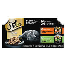 SHEBA® Perfect Portions Cat Food - MultiPack, 12ct, Chicken & Turkey