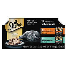 SHEBA® Perfect Portions Cat Food - MultiPack, 12ct, Chicken & Tuna