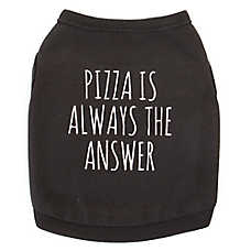 "Top Paw® ""Pizza is always the Answer"" Dog Tank"
