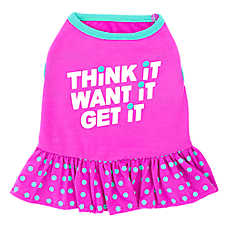 "Top Paw® ""Think It Want It Get It"" Dog Dress"