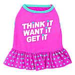 "Top Paw® ""Think It Want It Get It"" Dog Dress"