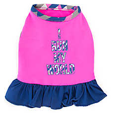 "Top Paw® ""I Run My World"" Dog Dress"