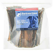 Barkworthies Beef Jerky Dog Chew - Natural, Joint Health