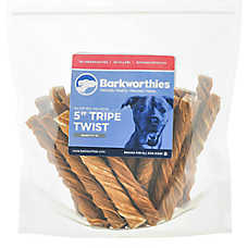 "Barkworthies 5"" Tripe Twist Dog Chew - Natural"