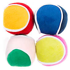 Top Paw® 4-Pack Play Balls Dog Toy - Plush, Squeaker