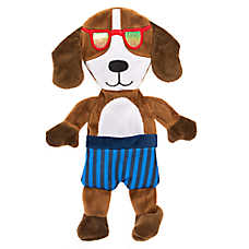 Top Paw® Flattie Dog with Glasses Dog Toy