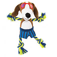 Top Paw® Dog with Glasses Dog Toy - Plush, Rope