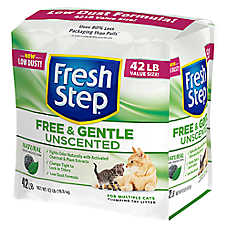 Fresh Step® Free & Gentle Unscented Cat Litter - Natural, Clumping, Multi-Cat