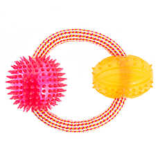 Top Paw® Rope Ring with Balls Dog Toy
