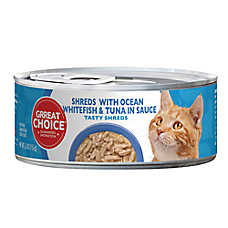 Grreat Choice® Tasty Shreds Cat Food - Ocean Whitefish & Tuna