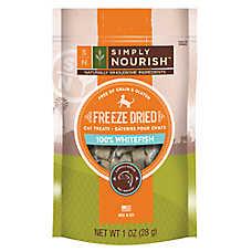 Simply Nourish™ Freeze Dried Cat Treat - Natural, Grain & Gluten Free, Whitefish