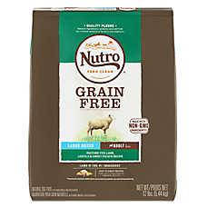 NUTRO™ Large Breed Adult Dog Food - Natural, Grain Free, Non-GMO, Lamb, Lentils & Sweet Potato