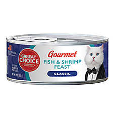 Grreat Choice® Gourmet Cat Food - Fish & Shrimp Feast