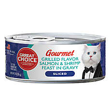 Grreat Choice® Gourmet Cat Food - Grilled Salmon & Shrimp
