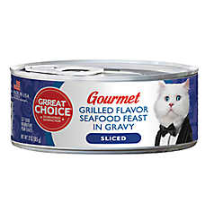 Grreat Choice® Gourmet Cat Food - Grilled Seafood Feast
