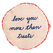 ED Ellen DeGeneres Love You More Than Treats Flattie Dog Toy - Crinkle