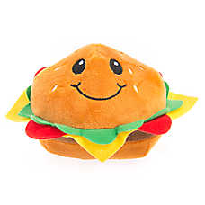 Top Paw® Hamburger Dog Toy - Plush, Squeaker