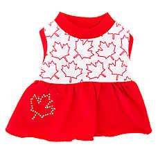 Top Paw® Canada Maple Leaf Dog Dress