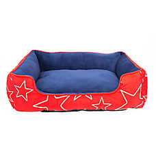 Top Paw® Americana Stars Cuddler Dog Bed