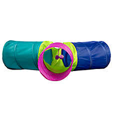 Whisker City® Pop-Up Tri-Tunnel Cat Toy