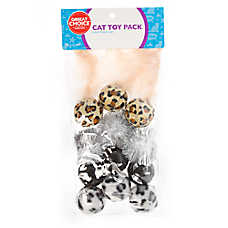 Grreat Choice® Animal Print 12-Pack Cat Toy Pack
