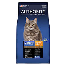 Authority® Indoor Mature Adult Cat Food - Chicken & Rice
