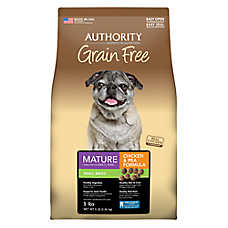 Authority® Grain Free Small Breed Mature Adult Dog Food - Chicken & Pea