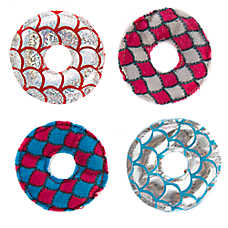 Whisker City® Circle 4-Pack Cat Toy - Plush, Catnip